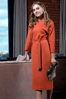 Платье с рукавами летучая мышь и длинным поясом RUXARA со скидкой