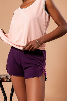 Домашние фиолетовые шорты  ZAVI