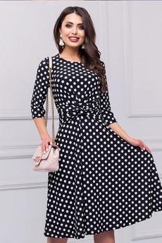 Новинка: модное черное платье в горошек CHARUTTI
