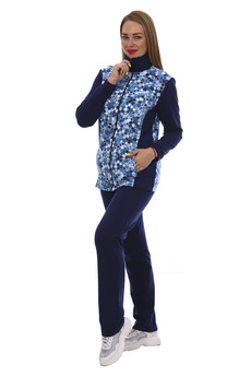 Женский спортивный костюм темно-синего цвета ZAVI