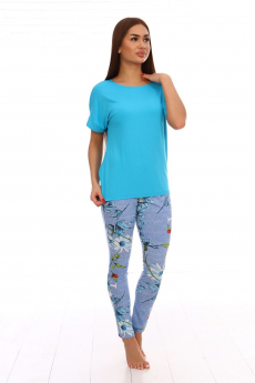 Комплект: лосины и бирюзовая футболка Вилана